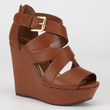 Soda Hat Womens Wedges Tan  In Sizes