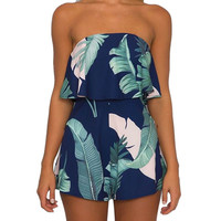 Sexy Women Holiday Mini Playsuit Ladies Floral Jumpsuit Summer Beach Wear Female Rompers Bodysuit
