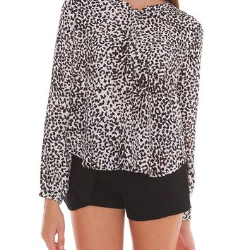 Sentimental Blouse Top - Animal Print