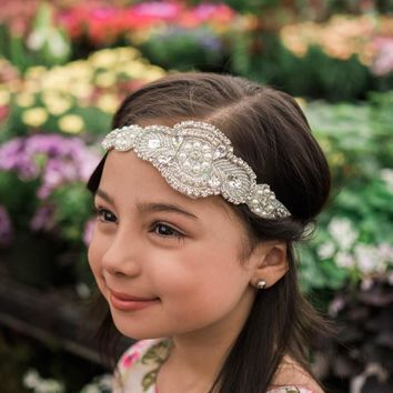 Scarlett Mint Crystal Jewel Headband