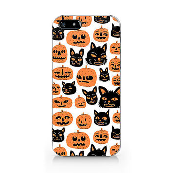 N-532 Pumpkin halloween pattern for iPhone 4/5/5C/6 case, Samsung galaxy S4/S5/Note3 case
