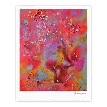 "Kira Crees ""Falling Paradise"" Pink Orange Fine Art Gallery Print"
