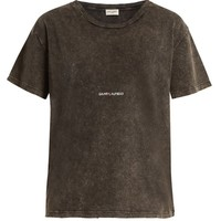 Logo-print distressed cotton T-shirt | Saint Laurent | MATCHESFASHION.COM US