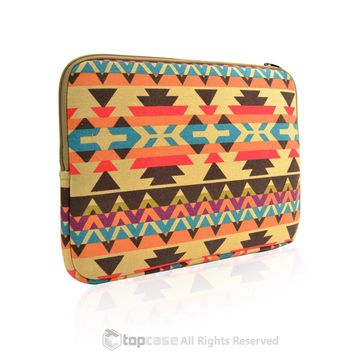 "Bohemian Style Canvas Fabric Laptop Sleeve Bag Case Cover for All 13"" 13-Inch Laptop Notebook / Macbook Pro / Unibody / Air / Ultrabook / Chromebook"