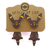 Umbreon (Pokemon Inspired) Cling Earrings