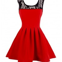 CRAZE Red Skater Dress - Craze Clothing