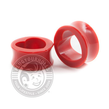 Red Acrylic Heart Tunnels