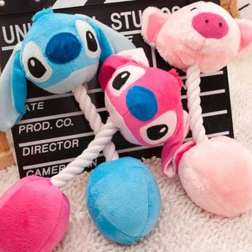 3 Cartoon Pet Products Plush Toys Dog Toys Pet Cats Cute Biting Rope Sound Toys 31CM