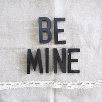 Vintage 'BE MINE' Black Point Back Bulletin / 2 by TheeLetterQ
