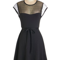 ModCloth LBD Mid-length Cap Sleeves A-line Delightful Shindig Dress