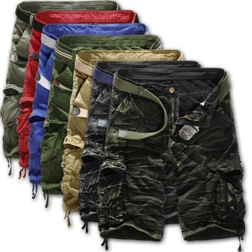 Pants Casual Camouflage Plus Size With Pocket Men's Fashion Shorts [6541430083]