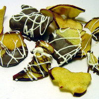 Chocolate Dipped Apple Chips | Luulla