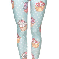 Polka Dots and Cupcakes Leggings Design 584