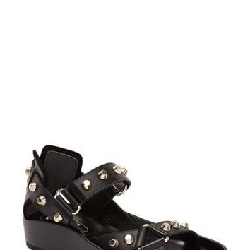Women's Balenciaga Studded Leather Sandal,