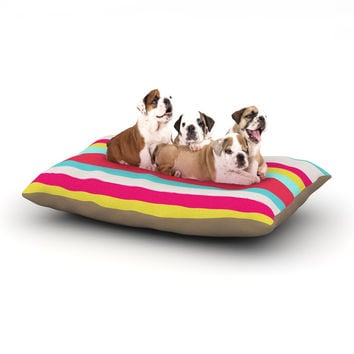 "Nika Martinez ""Girly Surf Stripes"" Dog Bed"