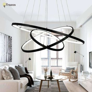 Modern LED Simple Chandeliers Lamp For Living Room Cristal Lustre ChandeliersLights Pendant Hanging Ceiling Fixtures