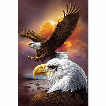 3D Diy Diamond Painting Animals Birds Eagles Cross Stitch Square Rhinestone Pictures Of Crystals Diamond Embroidery full gear