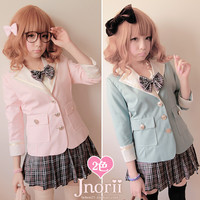 BOBON21 {} exclusive original designs you love college wind Almighty take a small suit uniforms jacket C0757-Taobao