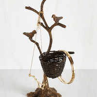 Rustic Early Bird Catches the Whimsy Jewelry Holder by ModCloth