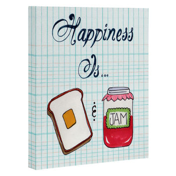 Heather Dutton Happiness Is Toast And Jam Art Canvas