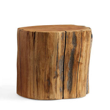 Side Table - Reclaimed solid wood NATURAL finish