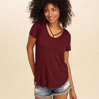 Girls Must-Have Easy Strappy T-Shirt | Girls Tops | HollisterCo.com