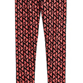 Justice Girls Cozy Printed Leggings COCO CORAL Size 8  NWT