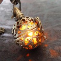 My Associates Store - Steampunk FIRE necklace - pendant charm locket jewelry- GREAT GIFT