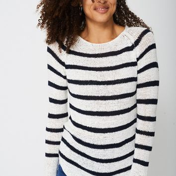 Stripe Knit Jumper Ex-Branded
