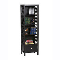 Antique Black Easton Tall Narrow Bookcase | Living Room Furniture| Furniture | World Market