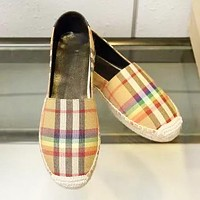 Burberry Fashion New Plaid High Quality Sports Leisure Shoes Women