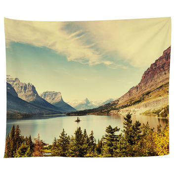 Autumn in Glacier National Park Tapestry