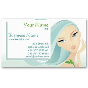 Beauty Salon Spa business card from Zazzle.com
