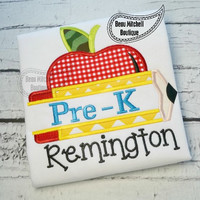 Back to School - Pre-K Apple - Customized Tee Shirt - Customizable