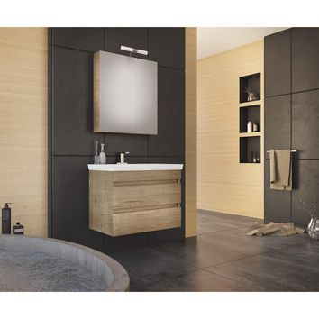 "DP Wall Bath Vanity Cabinet Set 28"" Single Sink W/ Laminated PL Wood Finish"