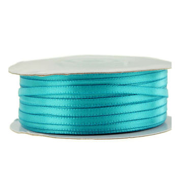 Double Faced Satin Ribbon, 1/8-inch, 100-yard, Turquoise