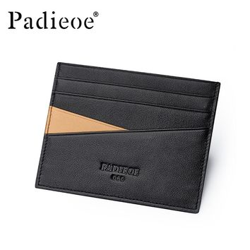 New Fashion Genuine Leather Credit Card Holder Slim Wallets Business ID Card Holders Fashion Leather Passport Holder