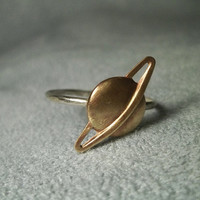Planet Ring, Saturn Ring, Sterling Silver Ring, Hammered Silver Ring, Handforged Ring, Space Ring, Solar System Ring