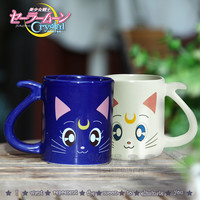 2 pieces 1pairs Anime Sailor Moon Crystal Cat Mug Cups