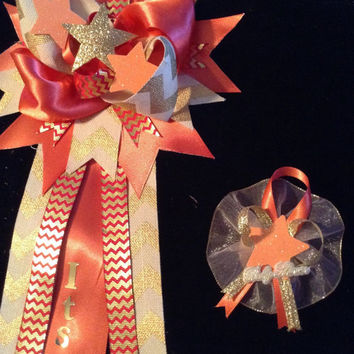 Twinkle twinkle little star  Baby shower themed mommy-to-be mum gold and coral