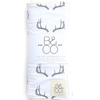 Burp Cloth Gray Antlers