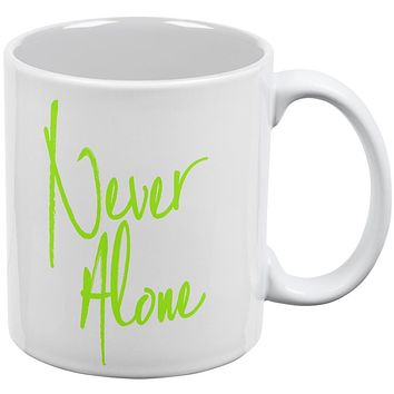Daily Inspiration Never Alone All Over Coffee Mug