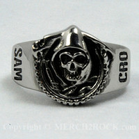 Sons of Anarchy Stainless Steel Ring - Reaper Logo