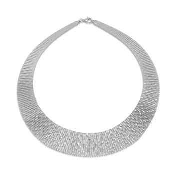 Cleopatra Style Rhodium-Over-Sterling Silver Necklace