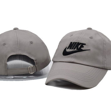 Gray NIKE Embroidered Baseball cotton cap Hat