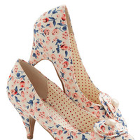 Bait Footwear Vintage Inspired Just My Cup of Tea Heel in Cream