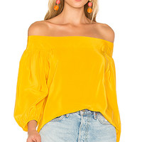 Amanda Uprichard Ronan Top in Marigold