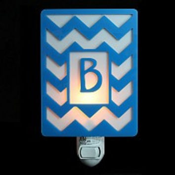 Monogrammed Chevron Nightlight