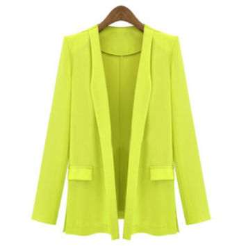 2015 Office Lady Suits Solid Color Thin Suit Jacket with Mock Sham Pockets OL Suit Coat PE3117*50