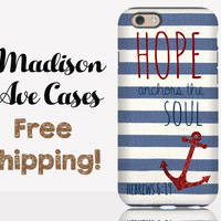Hope Anchors The Soul Hebrews 6:19 Phone Case